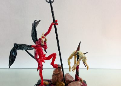 Murano Glass Devil and demon on a base