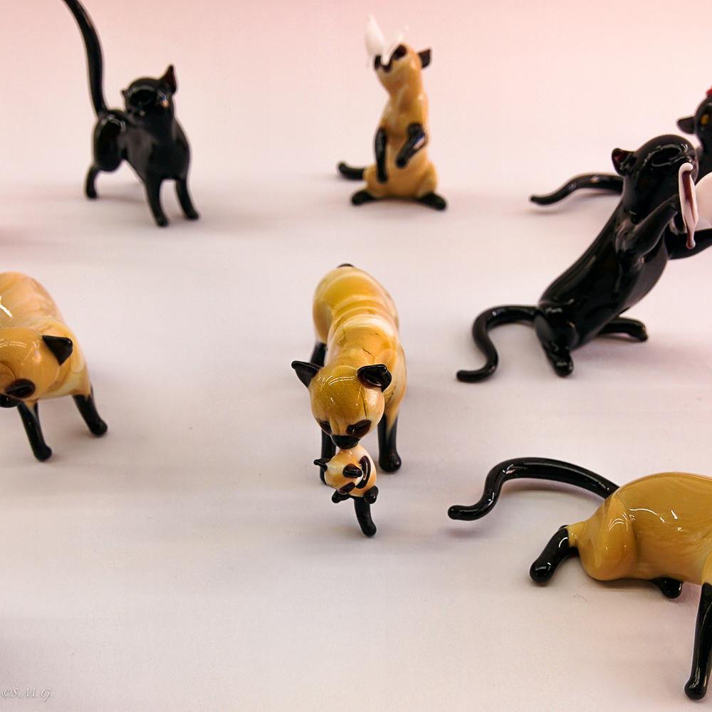Murano Glass cats