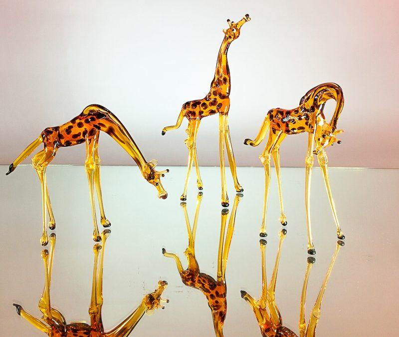 Set of 3 giraffes small size