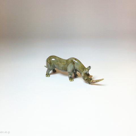Rinoceronte in vetro di Murano
