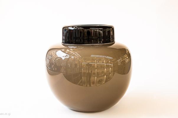 Black and Dove-grey Murano Glass bowl