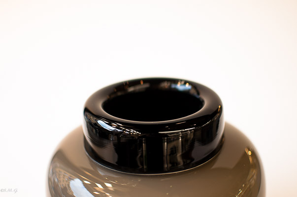 Black and Dove-grey Murano Glass bowl
