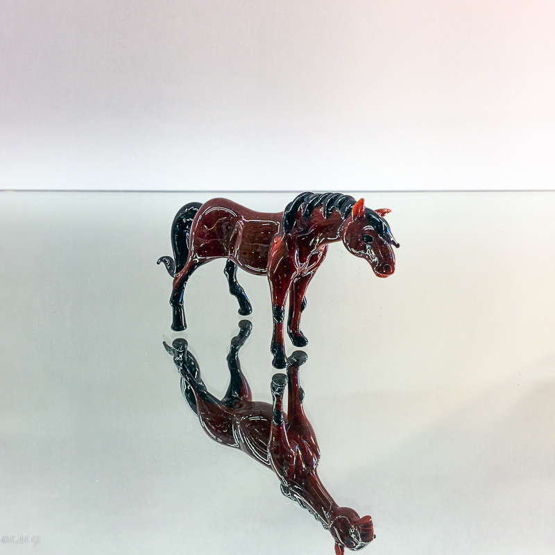 Brown Murano Glass horse