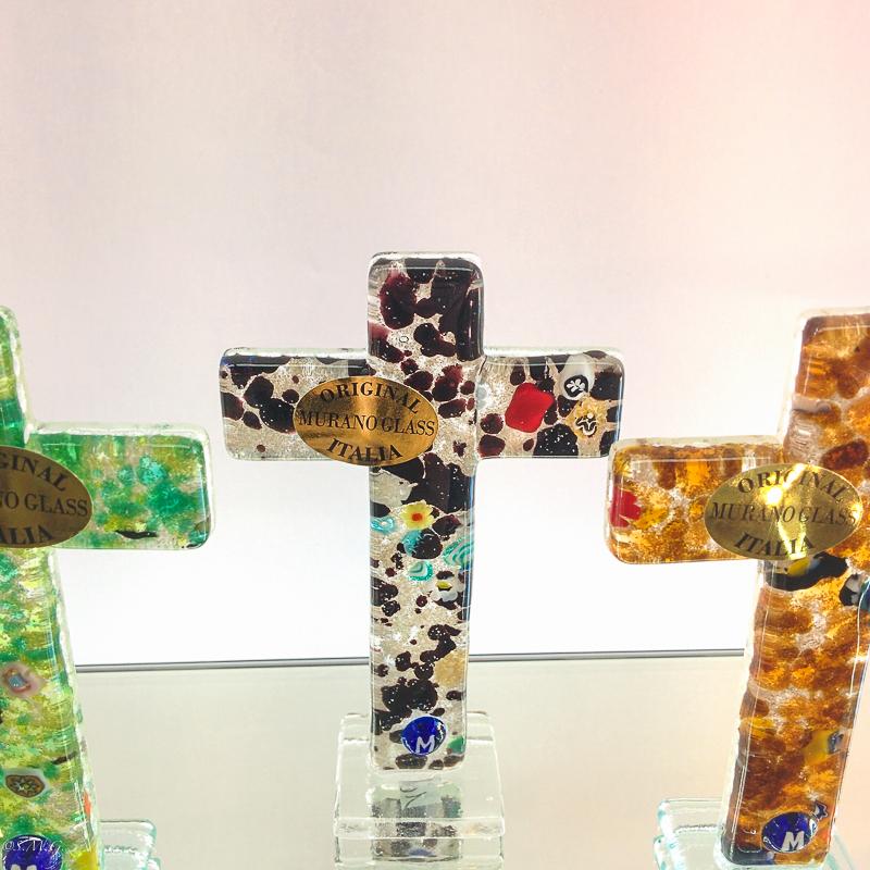 Murano Glass cross on a base