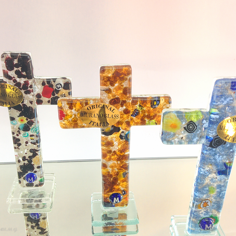 Murano Glass cross on a base
