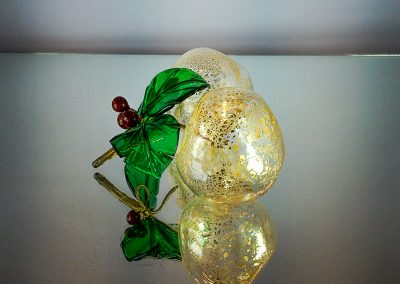 Murano Glass apples with gold