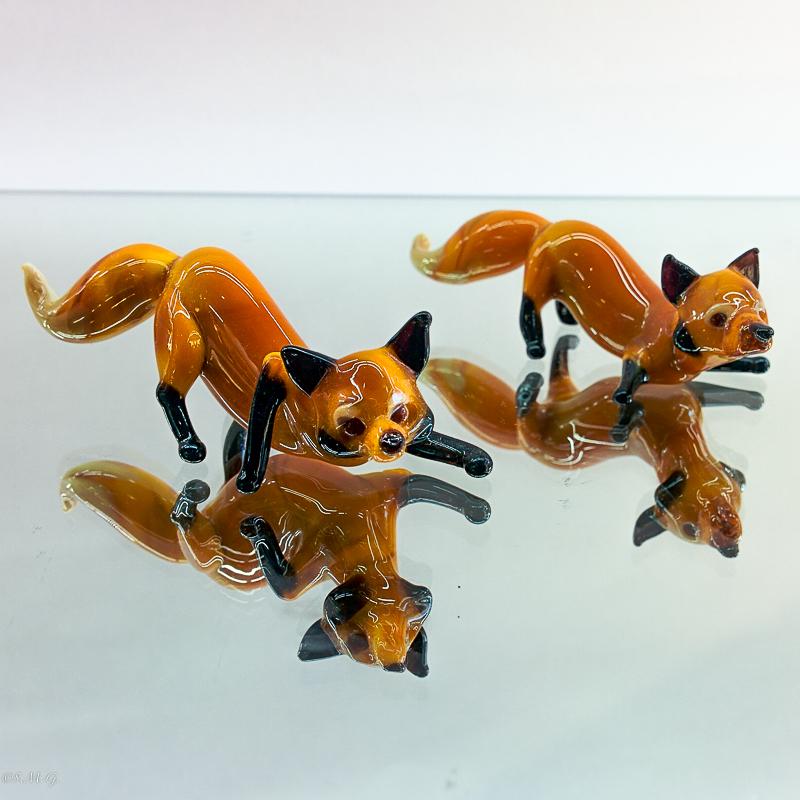 Murano Glass foxes