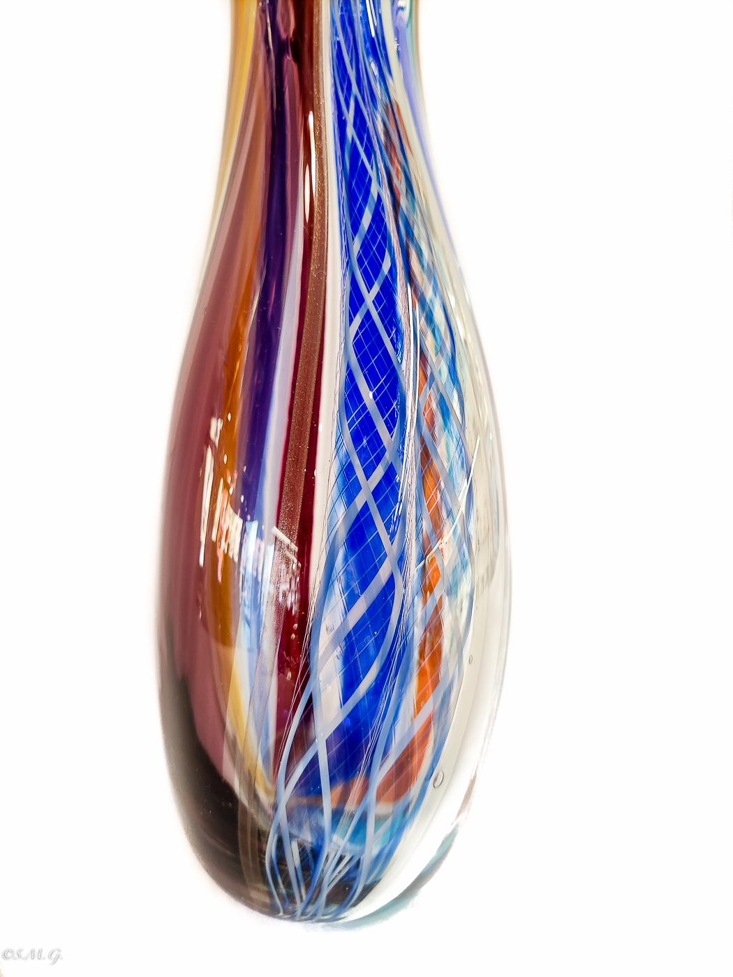 Multicoloured Murano Glass vase