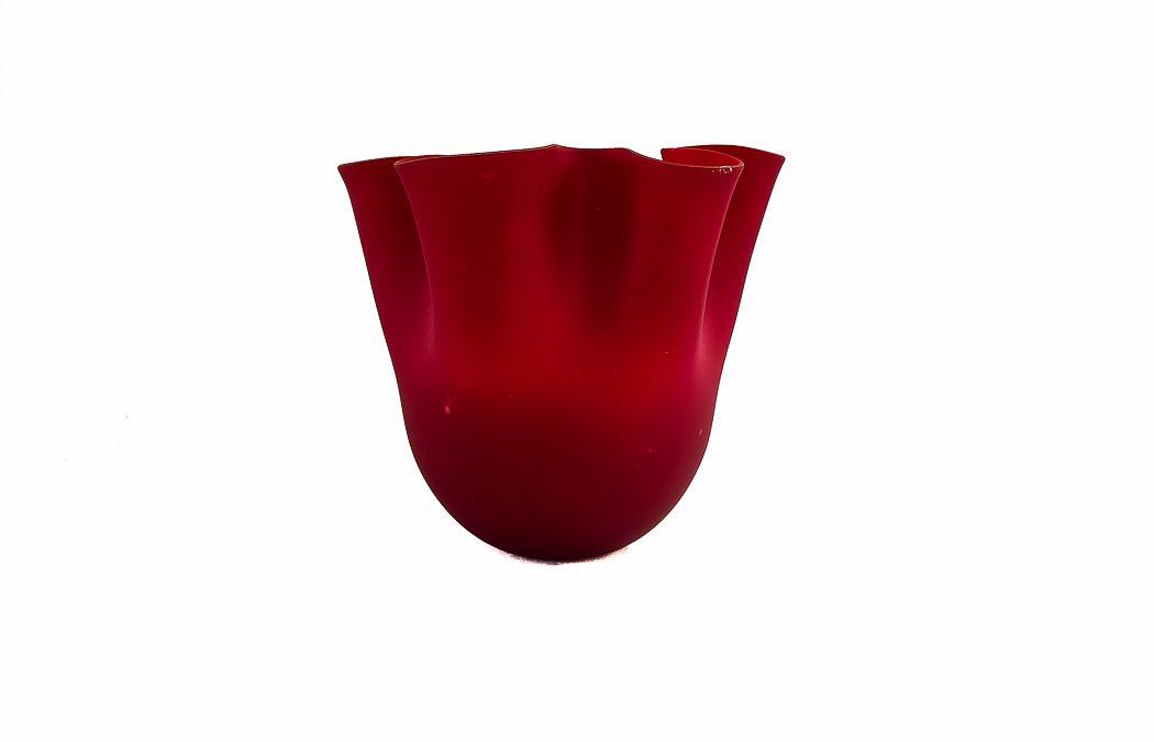 Red Fazzoletto Satinato